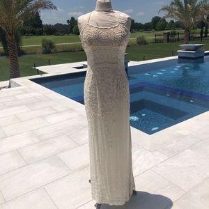WHITE HOUSE BLACK MARKET Formal Beaded Gown